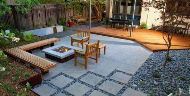 Šikovný a najmä efektný dvor: Inšpirujte sa kombináciou kamienkov a betónu