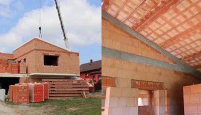 Ťažká šikmá strecha z keramicko-betónových panelov HELUZ je odolná, trvanlivá a tepelne aj zvukovo izoluje