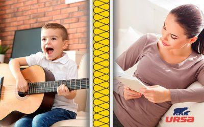 Akustické dosky URSA SILENTIO 33 zaistia v domácnosti dokonalé ticho