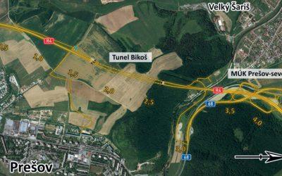 Rýchlostná cesta R4 Prešov – severný obchvat, I. etapa – prvý rok výstavby