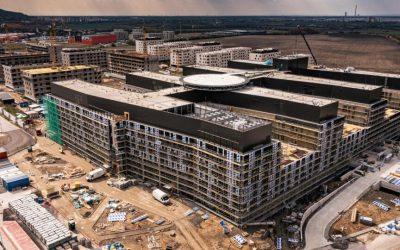 Nemocnica Bory je stavebne takmer z polovice hotová