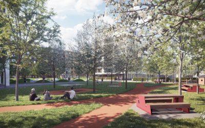 Brownfield na Račianskej v Bratislave zmenia bytovky a park