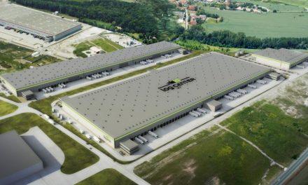 V Kostolných Kračanoch budujú novú halu so solárnymi panelmi pre logistiku a e-commerce
