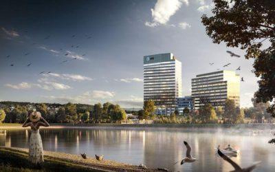 V bratislavskom Lakeside Parku 02 sú pred finišom, už stavajú desiate poschodie